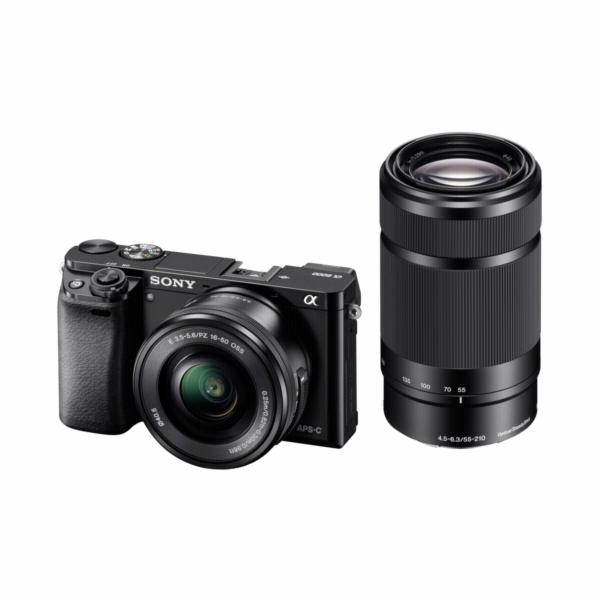 Zrcadlovka Sony Alpha 6000 černá + SEL-P 16-50 + SEL 55-210