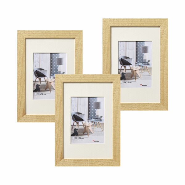 Walther Home 3x13x18 Wooden Frame nature HO338H
