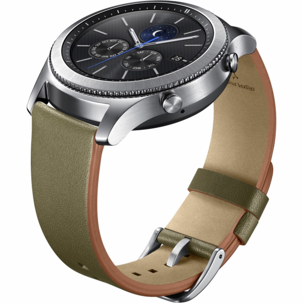 Samsung výměnný pásek kožený Gear S3 , Olive Green