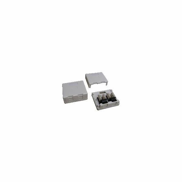 DATACOM Datová zásuvka UTP CAT5E 2xRJ45 na omítku (protiprachová) bílá