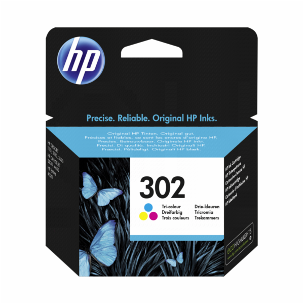 HP F6U65AE Tri-color Original Ink Cartridge No. 302