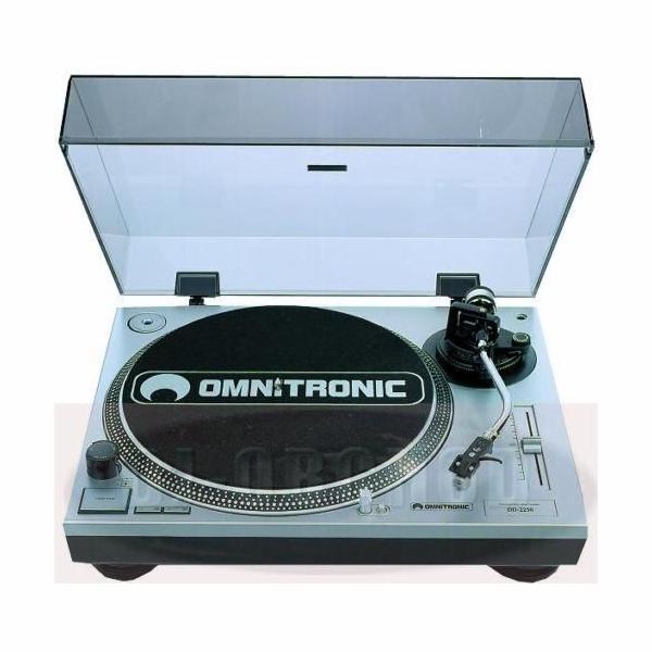Gramofon Omnitronic DD-2550 USB stříbrný