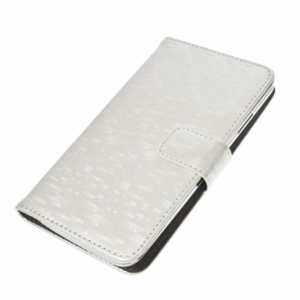 "Aligator Pouzdro BOOK GLAMMY L (4,5""- 5"") White"