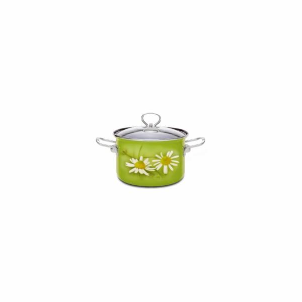 hrnec+PO d16 (2,1l) DAISY zelená