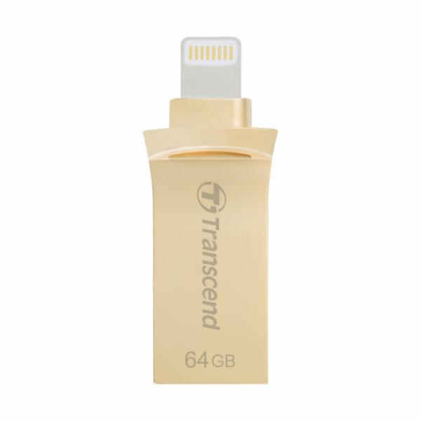 Transcend JetDrive Go 500 64GB Lightning + USB 3.1 Gen1 gold