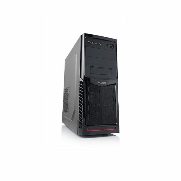 Modecom PC skříň LOGIC A30 MIDI, 1x USB 3.0, 1x USB 2.0 + audio, černá, bez zdroje