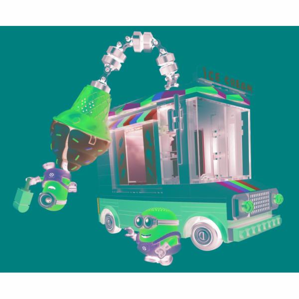 Mega Bloks Mimoňové zmrzlinářský vůz