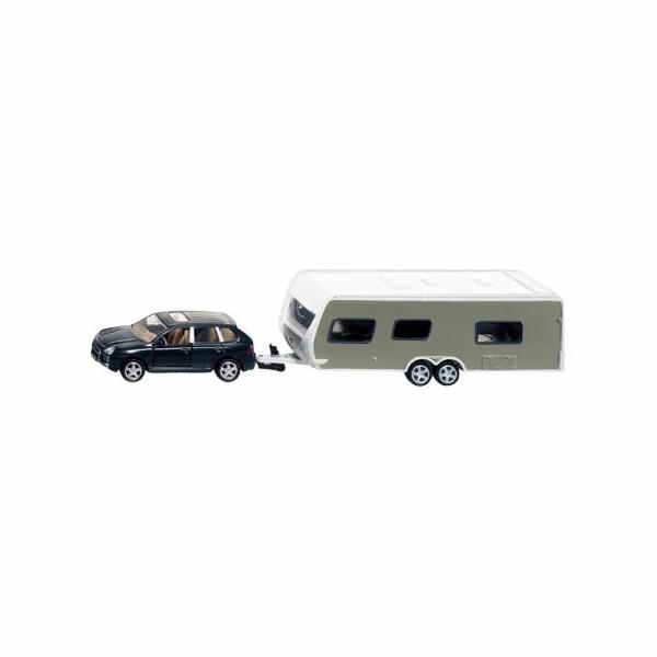 Auto s karavanem Siku 2542 Porsche Cayenne