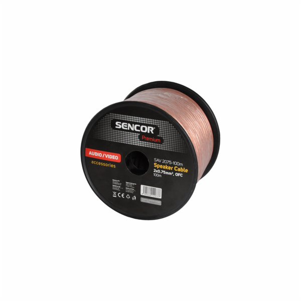 AV kabel Sencor SAV 2075-100m repro 2x0,75mm2