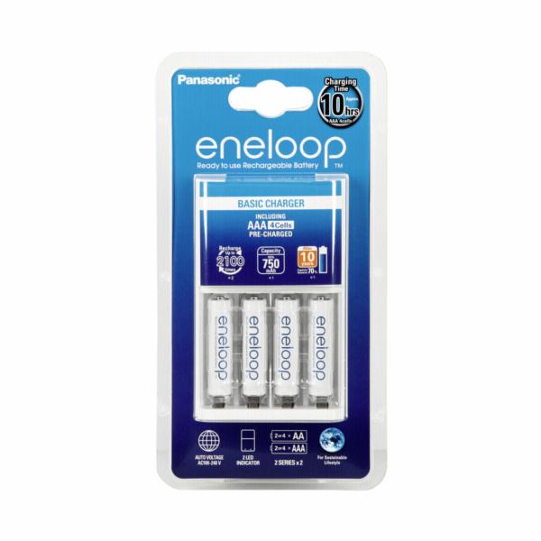 Panasonic Eneloop Basic Charger incl. 1x4 AAA Micro Akkus