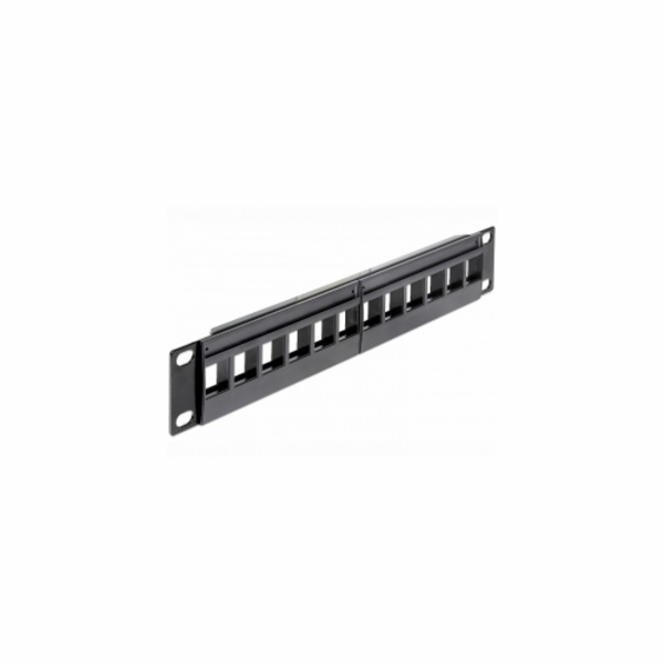 "Delock 10"" Keystone Patch Panel 12 Portů"