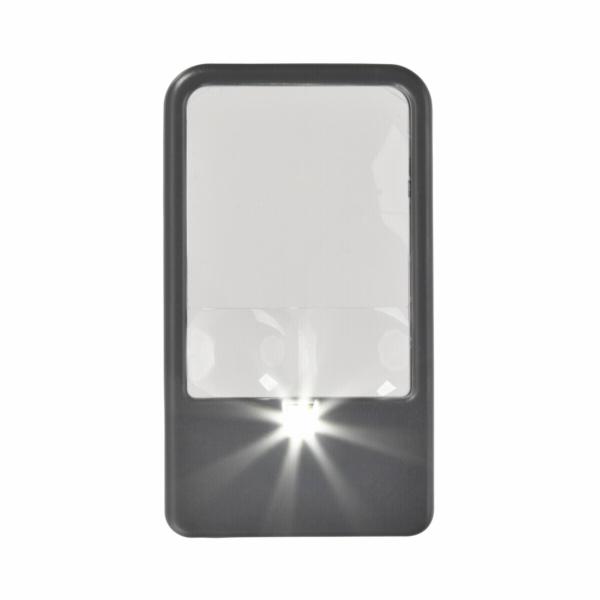 Carson PM-33 2,5x lupa do tašky, LED osvětlení, s čočkou 5x a 6x