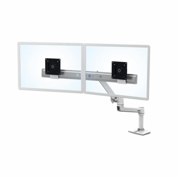 """ERGOTRON LX Desk Dual Direct Arm, bílý, stolní rameno pro 2 monitry až 25"""", bílý"""