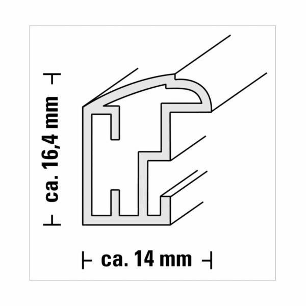 Hama Saragossa stribrna 15x20 plast 67636