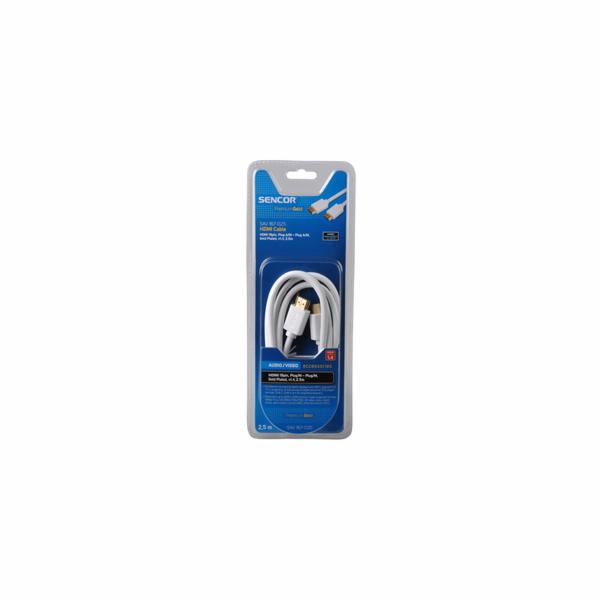 SAV 167-025W HDMI M-M 2,5M 1.4 PG SENCOR