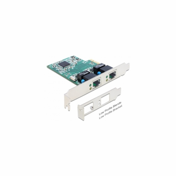 Delock PCI Express karta > 2 x Gigabit LAN