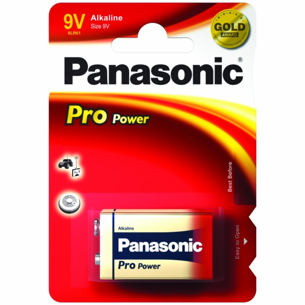 Baterie Panasonic Pro Power 6 LR 61 9V VPE 12ks
