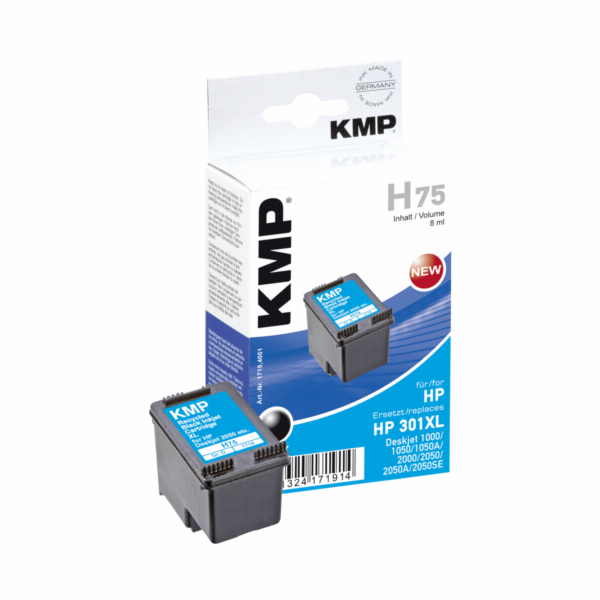 KMP H75 cartridge cerna kompatibilni s HP CH 563 EE