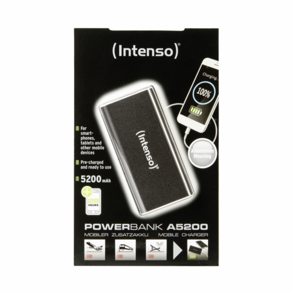 Intenso Powerbank ALU 5200 mAh black