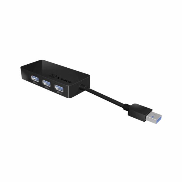 IB-AC517 USB 3.0 > RJ45 + 3x USB 3.0, Adapter