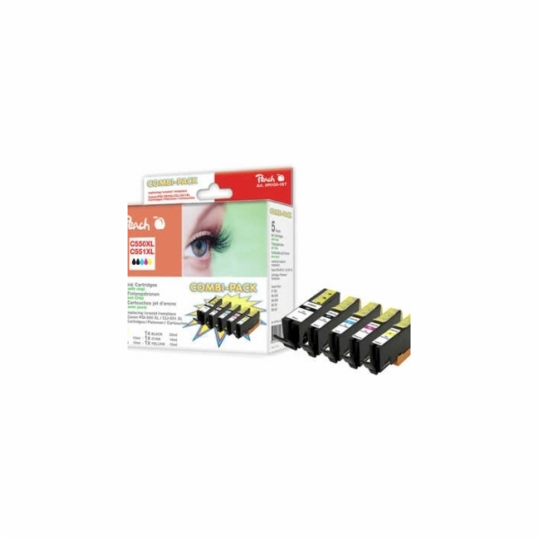 PEACH kompatibilní cartridge Canon PGI-550/CLI-551 MultiPack, 2xBlack, Cyan, Magenta, Yellow, 23ml, 4x13ml