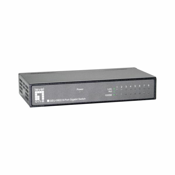 Level One GEU-0822 8 Port Gigabit Ethernet Switch