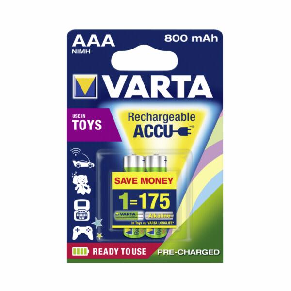 2ks Varta Toys Accu AAA Ready2Use NiMH 800 mAh Micro