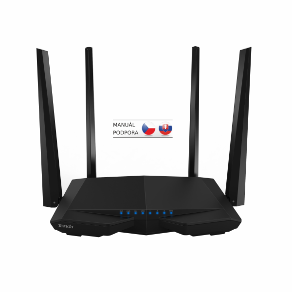 Tenda AC6 Wireless AC Router 1200Mb/s, VPN server/klient, WISP, Universal Repeater, 4x5dBi antény