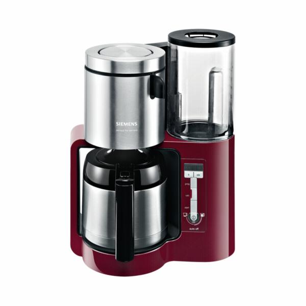 Kávovar Siemens TC 86504, červeno-černý
