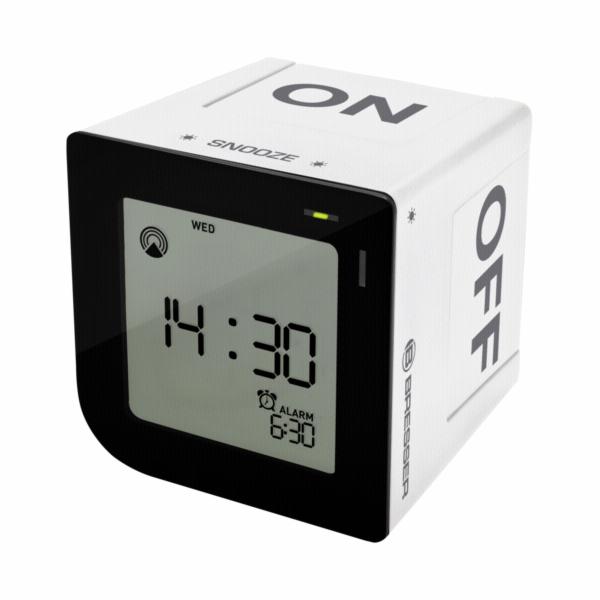 Bresser FlipMe white radio controlled Alarm Clock