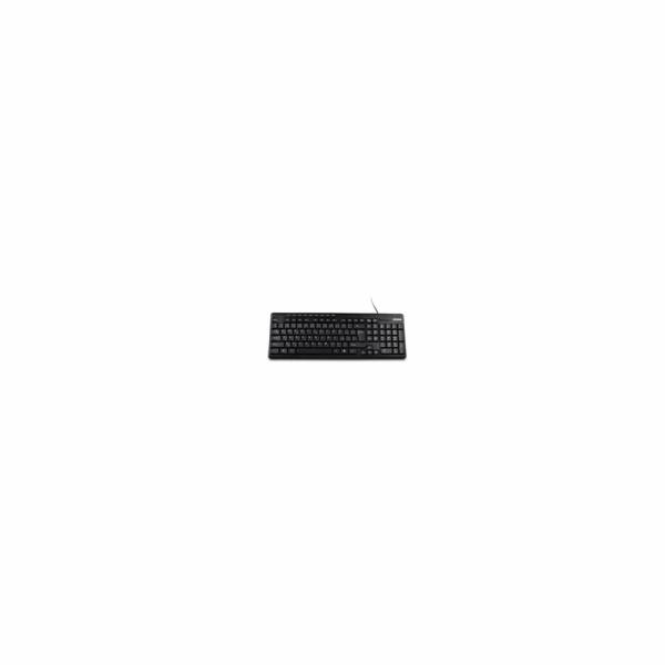 Crono CK2816 multimediální klávesnice, CZ/SK, USB / PS2, černá
