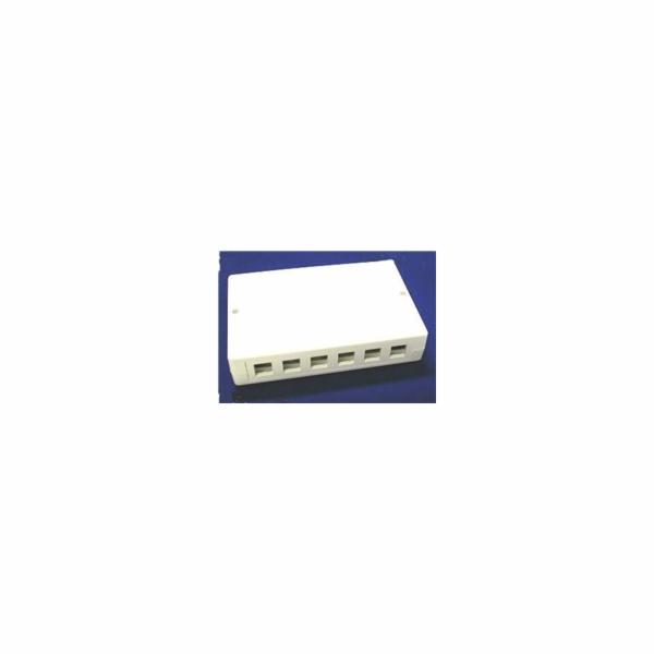 Zásuvka modulární 12-portová na omítku, bílá, prázdná