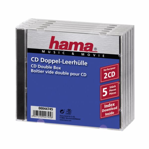 1x5 Hama Doppel-CD prazdne pouzdro 44745