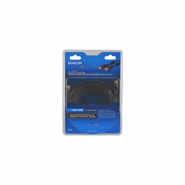 Anténní koaxiální kabel Sencor SAV 199-100 M-F PG