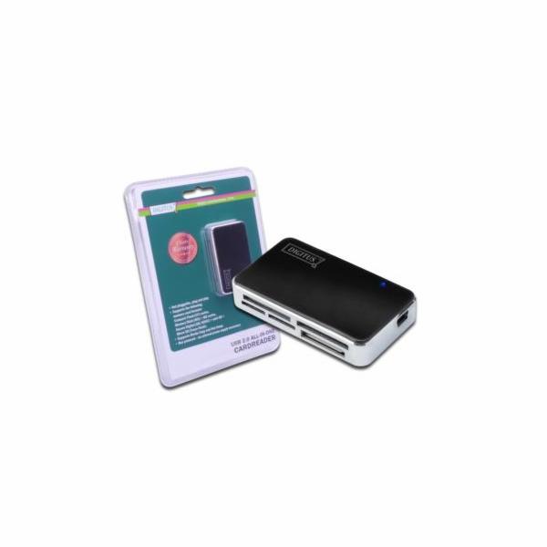DIGITUS All-in-one USB 2.0 Čtečka karet, podporuje T-Flash, včetně USB A/M pro mini5P kabel