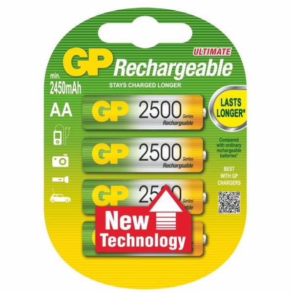 GP nabíjecí baterie RECYKO 2500mAh - 4ks