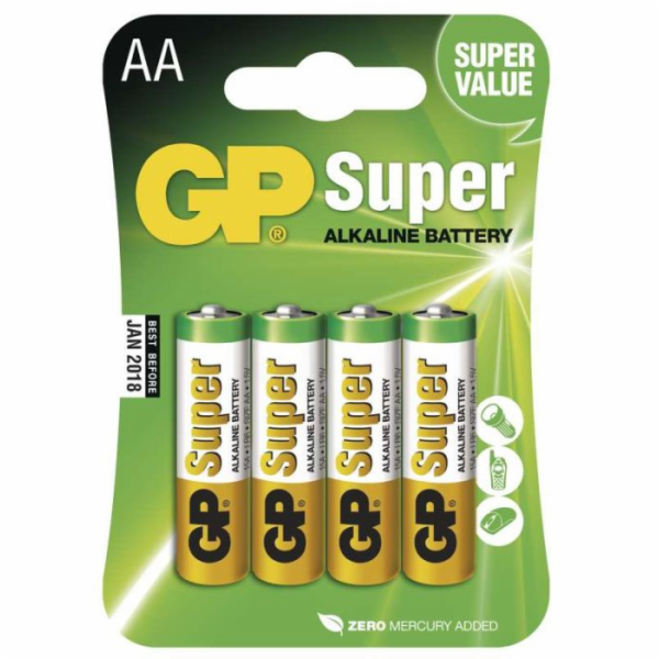 GP AA Super alkalická - 4 ks
