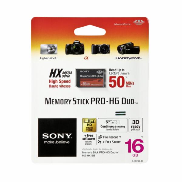 SONY Memory Stick PRO-HX DUO 16GB Paměťová karta High Speed
