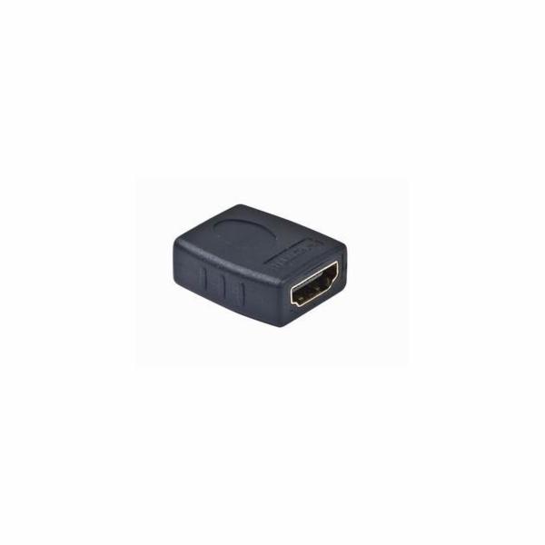 Kab. redukce HDMI-HDMI F/F,zlacené kontakty, černá