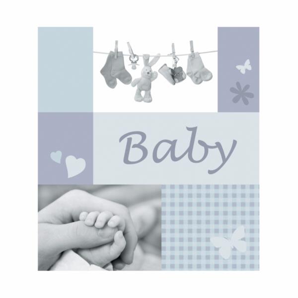 Henzo Jessy modra 28,5x30 60 stran kniha Baby
