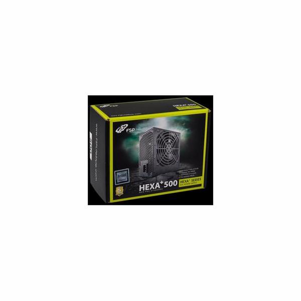 Fortron FSP zdroj 500W HEXA+, 80+, Aktiv. PFC, 12cm ventilátor
