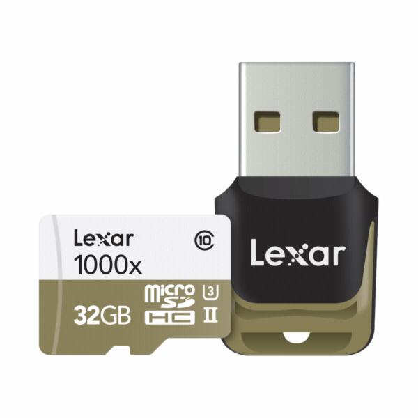 Lexar microSDHC 1000x 32GB UHS-II with USB 3.0 Reader