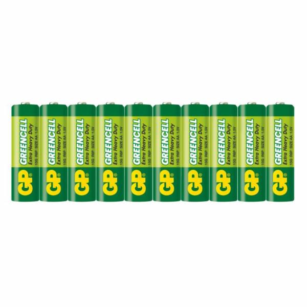 GP AA Greencell, zinko-chloridová - 10 ks, fólie