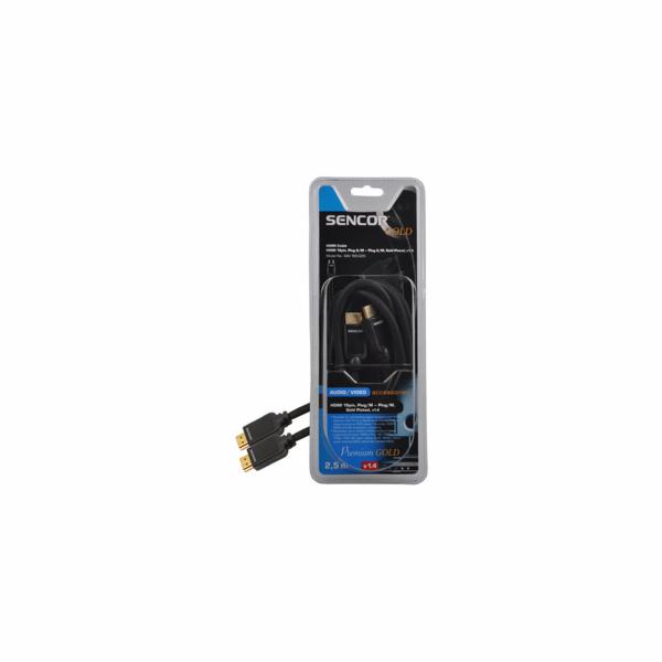 Kabel Sencor SAV 165-025 HDMI M-M 2,5M v1.4 PG