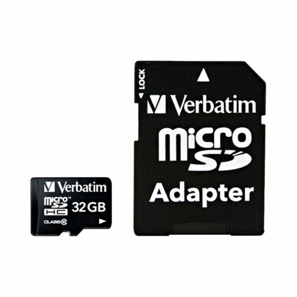 Verbatim microSDHC 32GB Class 10 UHS-I incl Adapter