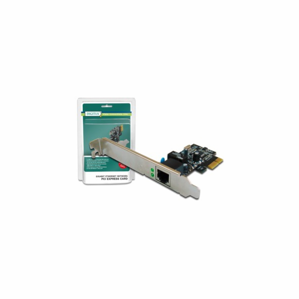 Digitus Gigabit PCI Express Card 10/100/1000 Mbit, 32-bit, Realtek chipset, Incl. Low Profile Bracket Single-Lane PCI Ex