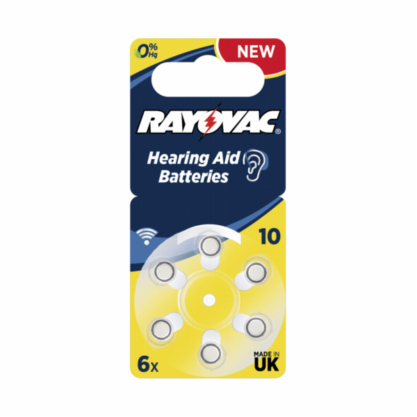 Rayovac Acoustic Special 10 6pcs Hearing Aid Batteries