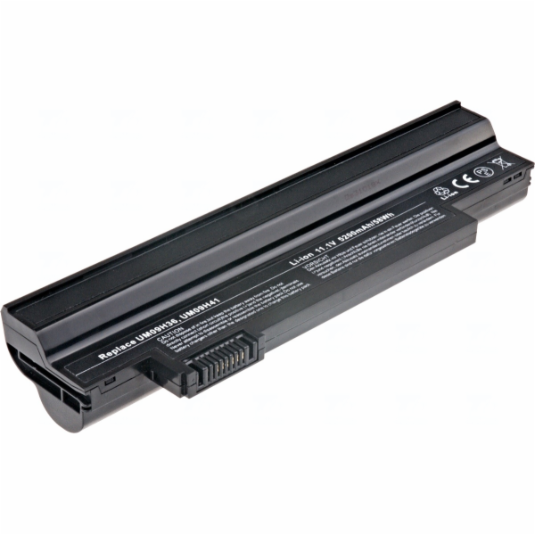 Baterie T6 power Acer Aspire One 532h, 533, 6cell, 5200mAh, black