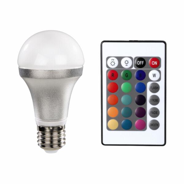 Xavax LED Bulb E27 4,5W Multicolor with Remote Control