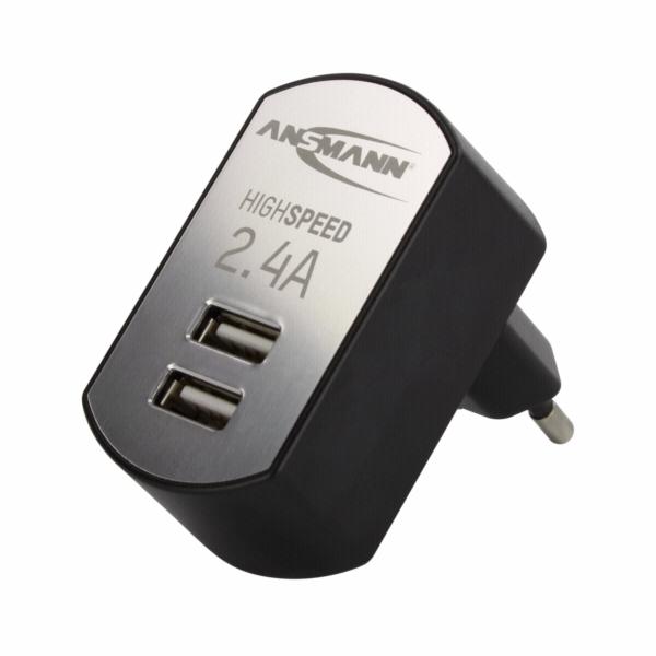 Ansmann High Speed USB Charger 2.4A 2xUSB Port 1001-0031
